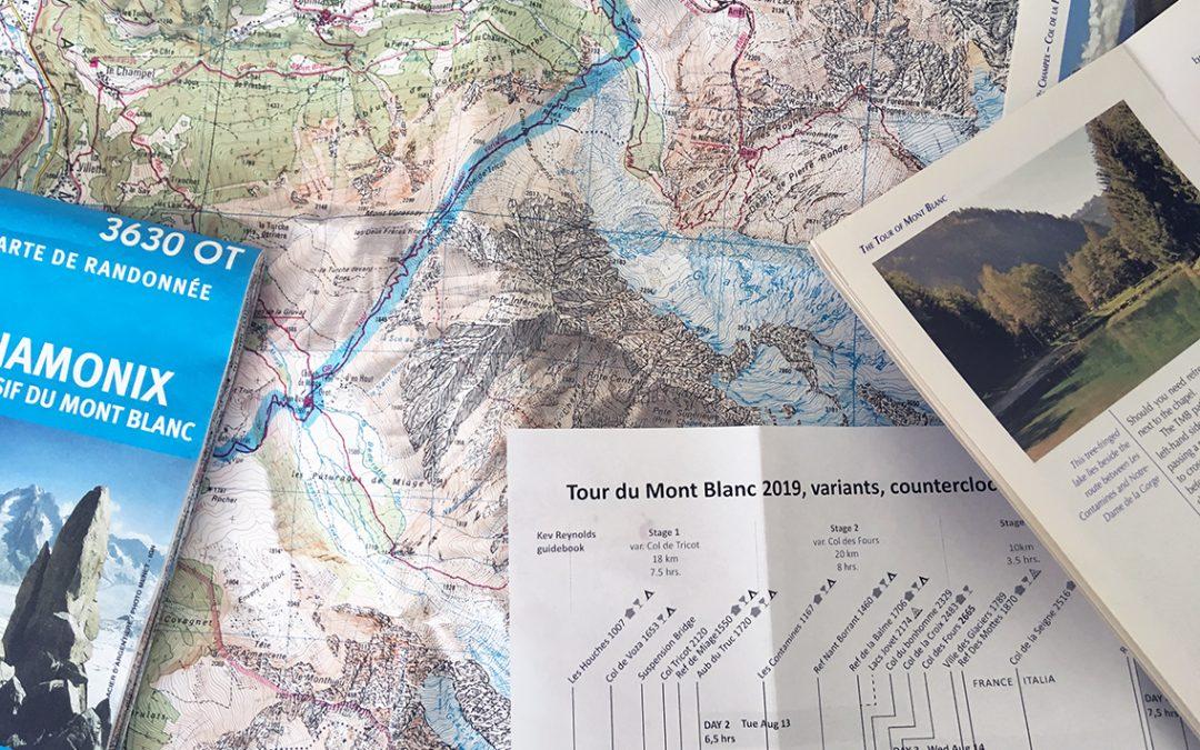 Planning the Tour du Mont Blanc